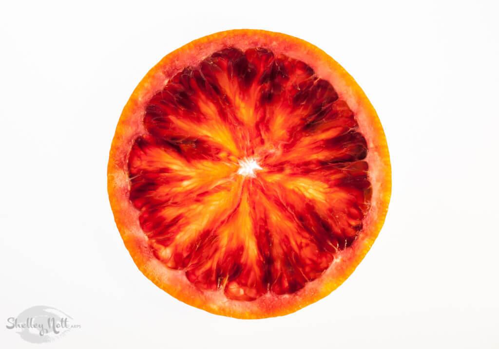 Slice of a Blood Orange