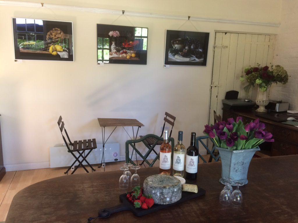 Giffords Hall tasting room with one of my 2018 exhibitions