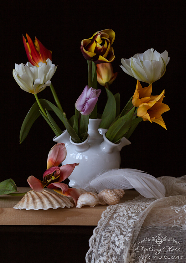 Still Life with Tulip Vase